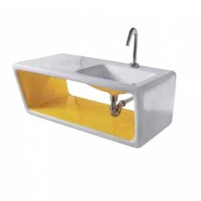 Раковина Ceramica Althea Outline 30466*1 white/yellow