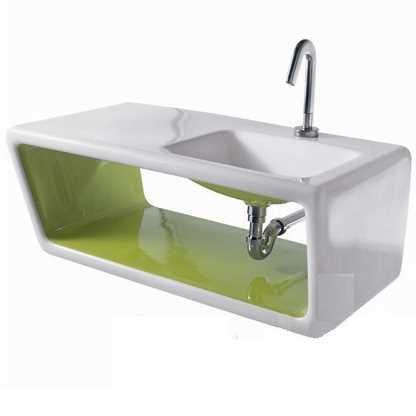 Раковина Ceramica Althea Outline 30468*1 white/green