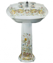 Раковина Kohler Artist Edition English Trellis K-14192-FL-0 с пьедесталом, 68,6*49,2 см