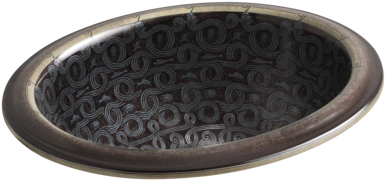 Раковина Kohler Vintage Serpentine Bronze K-14234-SP-G9, врезная сверху, 43,2*35,6 см