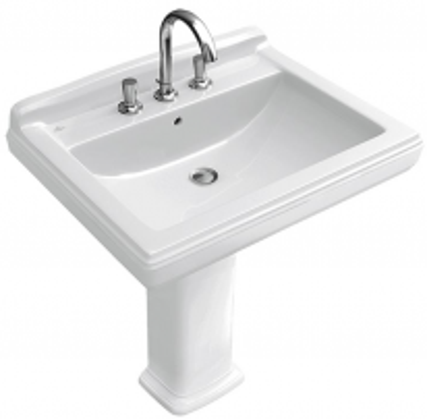 Раковина Villeroy&Boch Hommage 7101 75R1/R2 White Alpin, 75*58 см