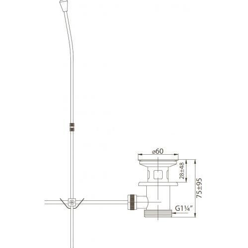 Донный клапан BelBagno BB-PC-42-CRM