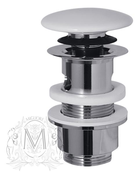 """Донный клапан Migliore с переливом ML.RIC-10.121CR, """"клик-клак"""", хром"""