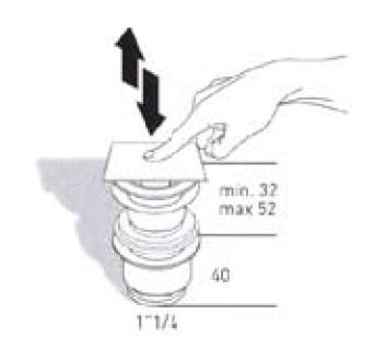 """Донный клапан Migliore с переливом ML.RIC-10.123.CR, """"клик-клак"""", хром"""