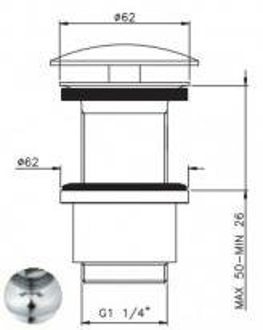 Донный клапан Nicolazzi 5556