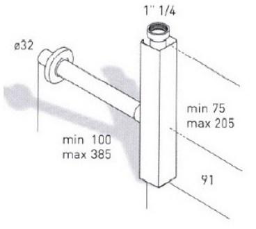 Сифон для раковины Migliore ML.RIC-10.117, хром, ø32