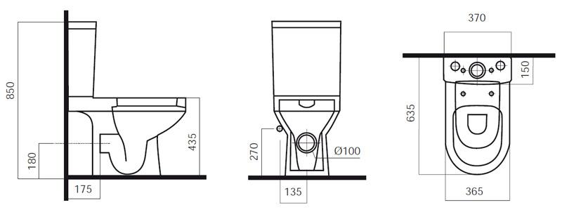 Унитаз-компакт AM.PM Spirit C708607SC с сиденьем микролифт