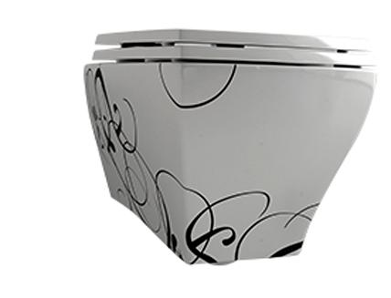 Унитаз ArtCeram Jazz подвесной (белый/черный) JZV001 01;50