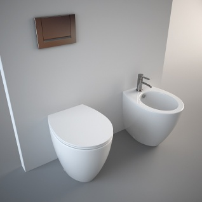 Унитаз Catalano Velis 50 1VP5000, приставной, белый