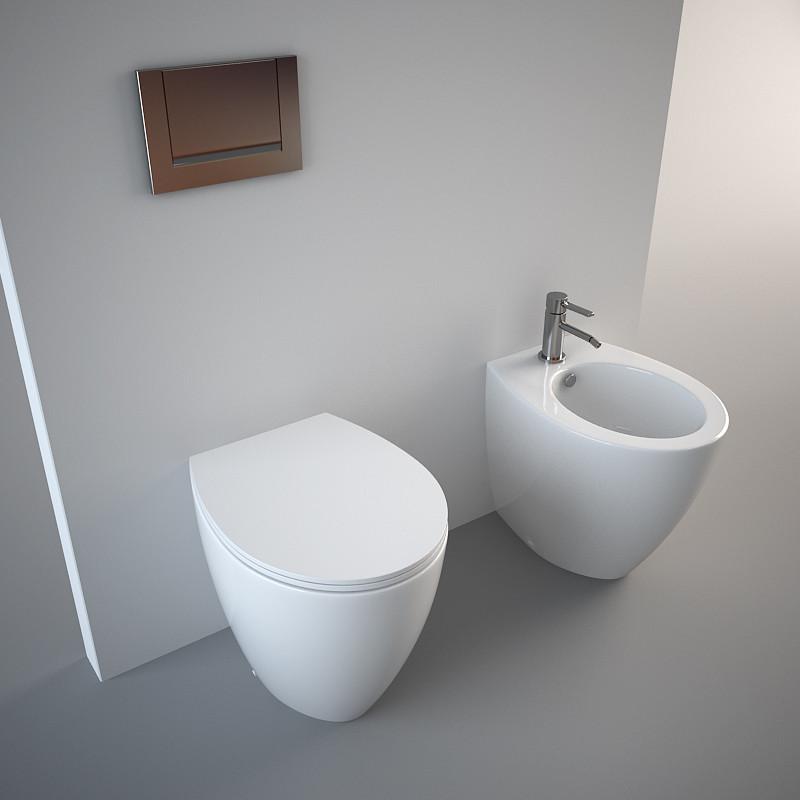 Унитаз Catalano Velis 57 1VP5700, приставной, белый