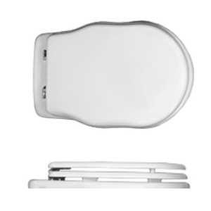 Крышка-сиденье Ceramica Althea Royal арт. 40409 bi/сr белая/хром, SoftClose