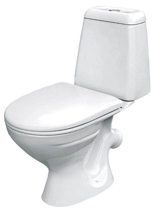 Унитаз-компакт Cersanit Hit 600163 с сиденьем-полипропилен, белый