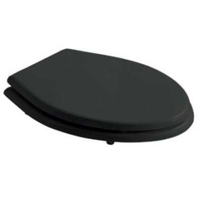 Крышка-сиденье Galassia Ethos, 8495NE standart, черное, дерево/полиэстер, петли хром