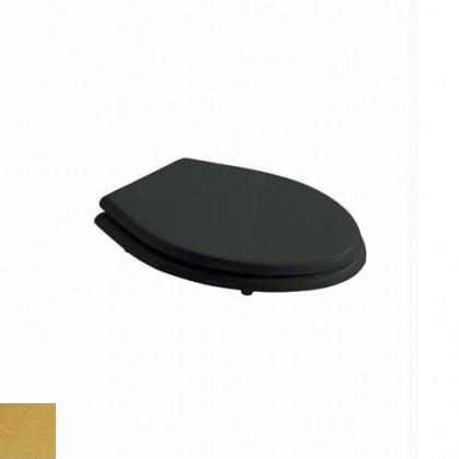 Сиденье Galassia ETHOS арт.8482NEORO для унитаза Soft-Close, черное, дерево/полиэстер, крепеж золото