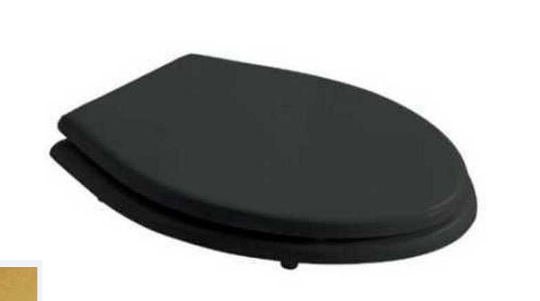 Крышка-сиденье Galassia Ethos 8482RM Soft-Close, черное, дерево/полиэстер, крепеж золото