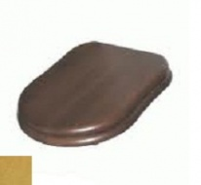 Крышка-сиденье GSI Old Antea арт. MS56NOC, орех/золото SoftClose