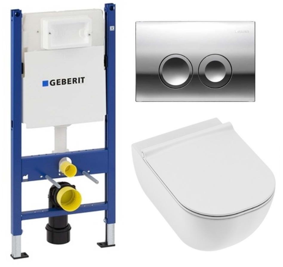 Комплект: инсталляция Geberit Duofix 3 в 1 с подвесным унитазом Jika Mio Rimless с сиденьем soft-close