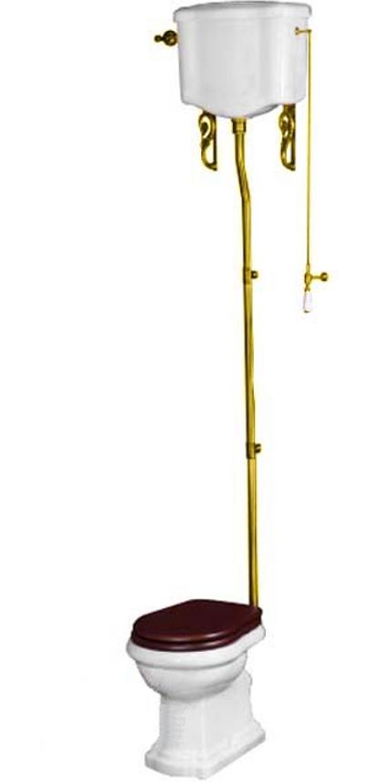 Унитаз Migliore Bella ML.BLL-25.111.BL.DO, высокий бачок ML.BLL-25.128.BL.DO, фурнитура золото