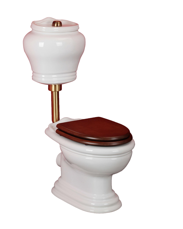 Унитаз Migliore Milady напольный с низким бачком, выпуск в стену/в пол, декор D3/BR c кнопкой