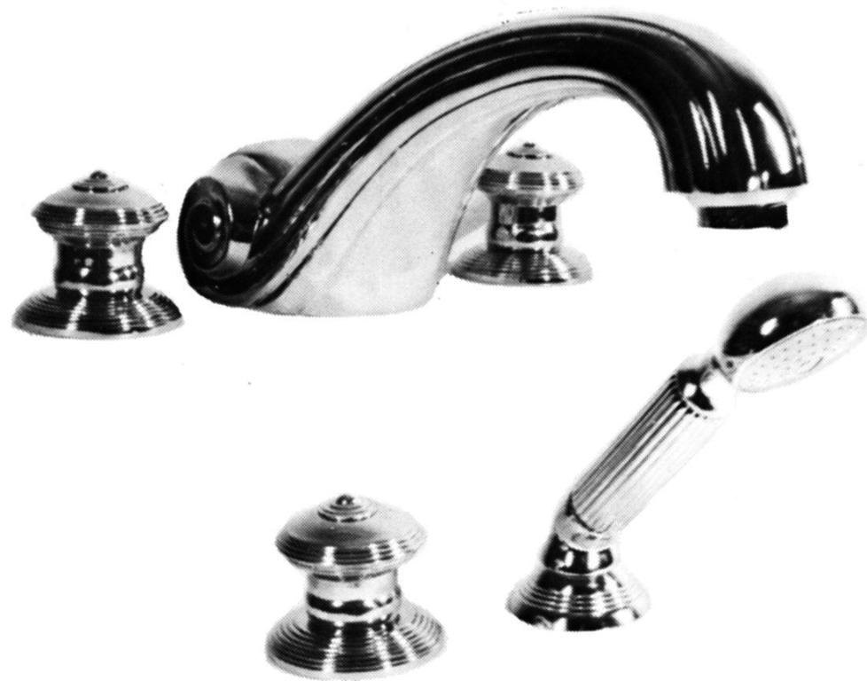"""Смеситель для ванны с душем Cristal-et-Bronze Bonroche , арт. 25052-19, на 5 отверстий """"Гигант"""""""