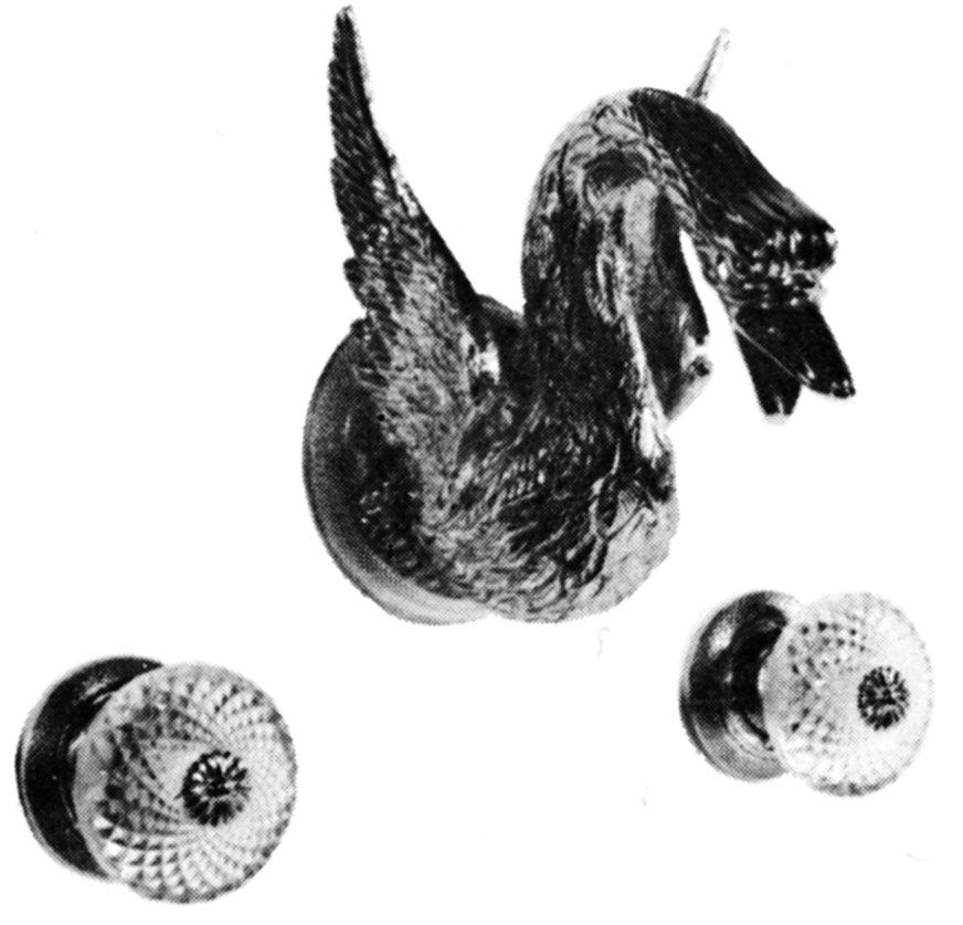 Смеситель для ванны Cristal-et-Bronze Cygne Aile, арт. 25001-15, на 3 отверстия, монтаж в стену