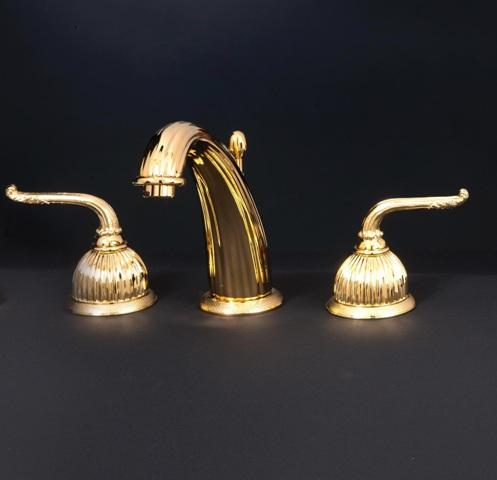 Смеситель для ванны Cristal-et-Bronze Saint-Honore, арт. 25822-71, на 3 отверстия