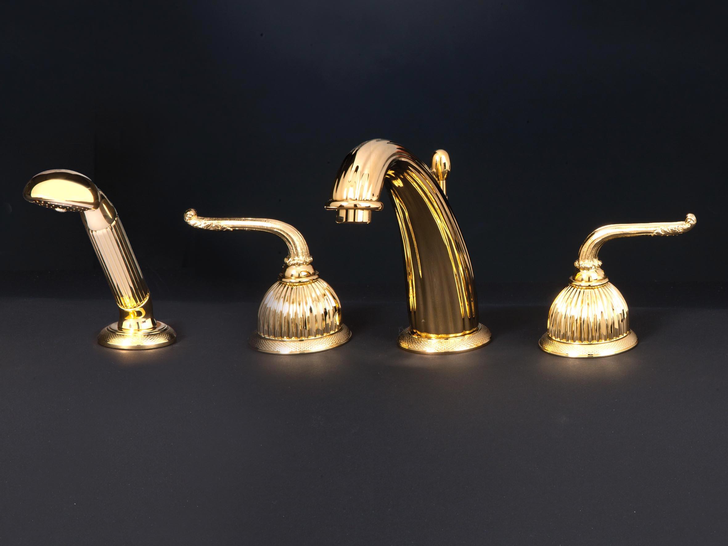 Смеситель для ванны с душем Cristal-et-Bronze Saint-Honore, арт. 25824-71, на 4 отверстия