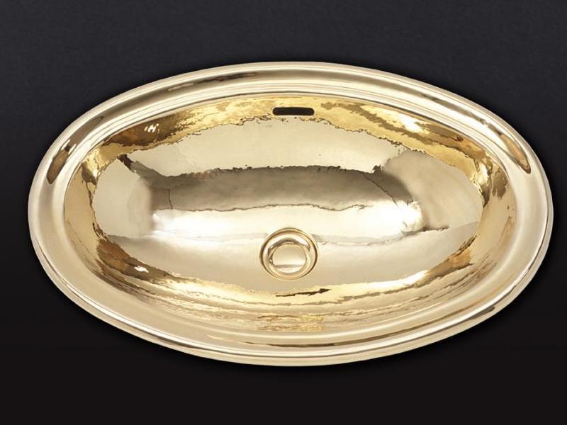 Раковина Cristal-et-Bronze Atlantide 50301,  овальная из латуни, отчеканенная вручную