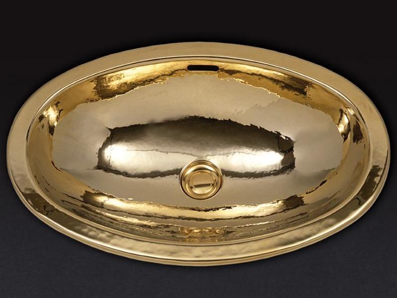 Раковина Cristal-et-Bronze Antarctica 50302, овальная из латуни, отчеканенная вручную