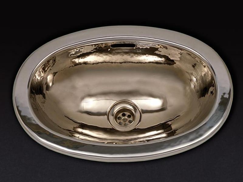 Раковина Cristal-et-Bronze Artica 51500, овальная из латуни, отчеканенная вручную