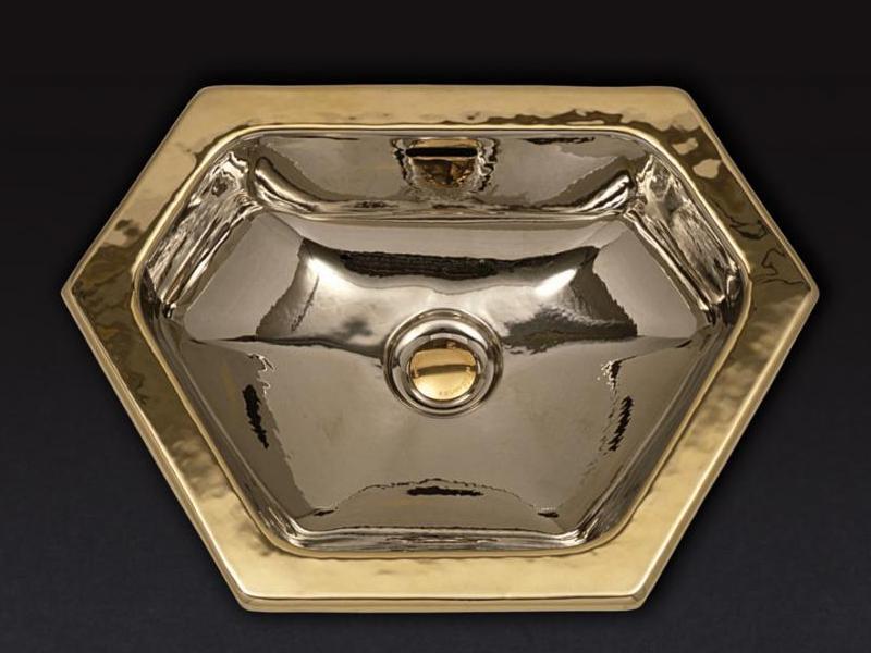 Раковина Cristal-et-Bronze Australia 51600,  шестигранная из латуни, отчеканенная вручную
