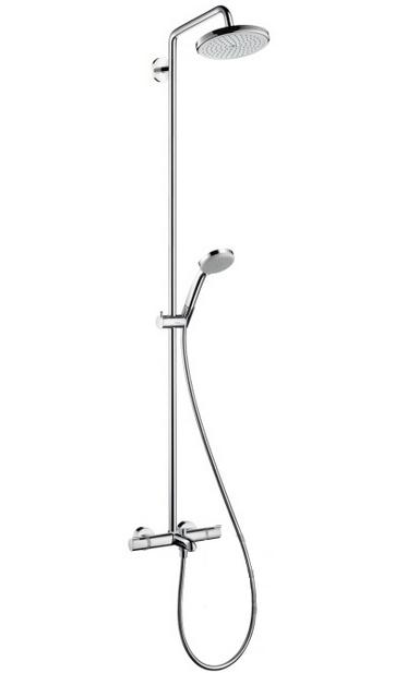 Душевая система Hansgrohe Croma 220 Showerpipe 27223000 с поворотным верхним душем, Ø 220 мм