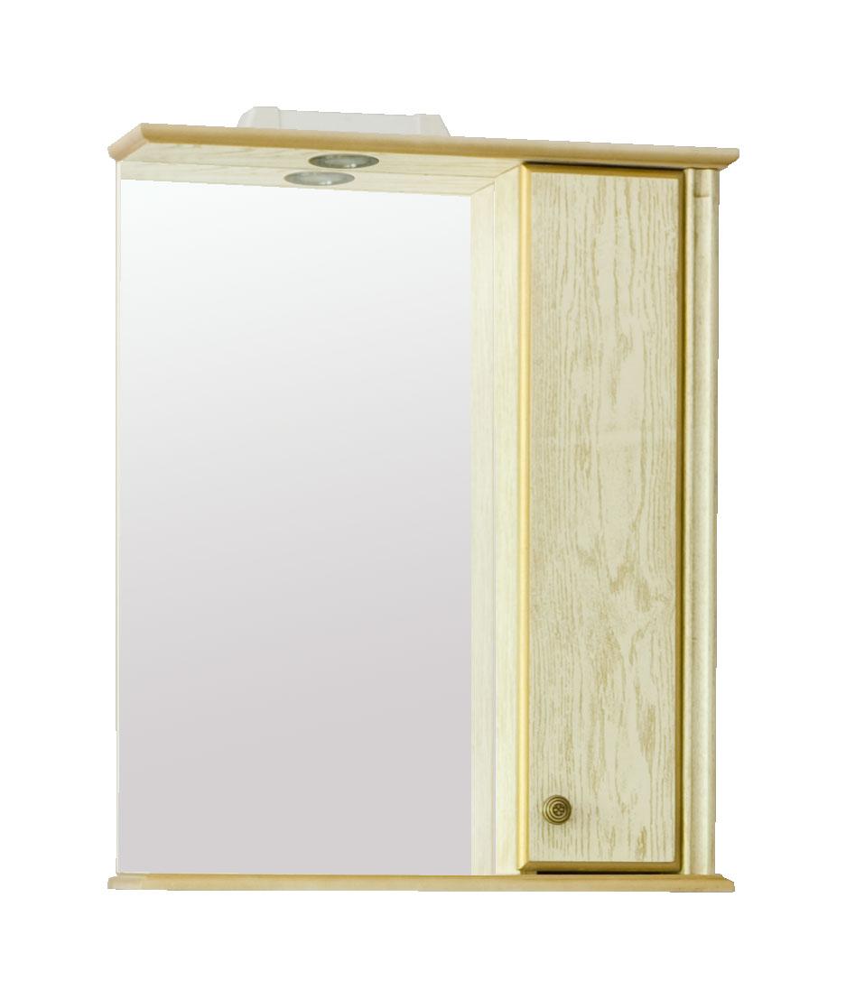 Зеркало Аллигатор ГРАНТ 1-55 R/L, с подсветкой и шкафчиком, 55*17*73,2 см