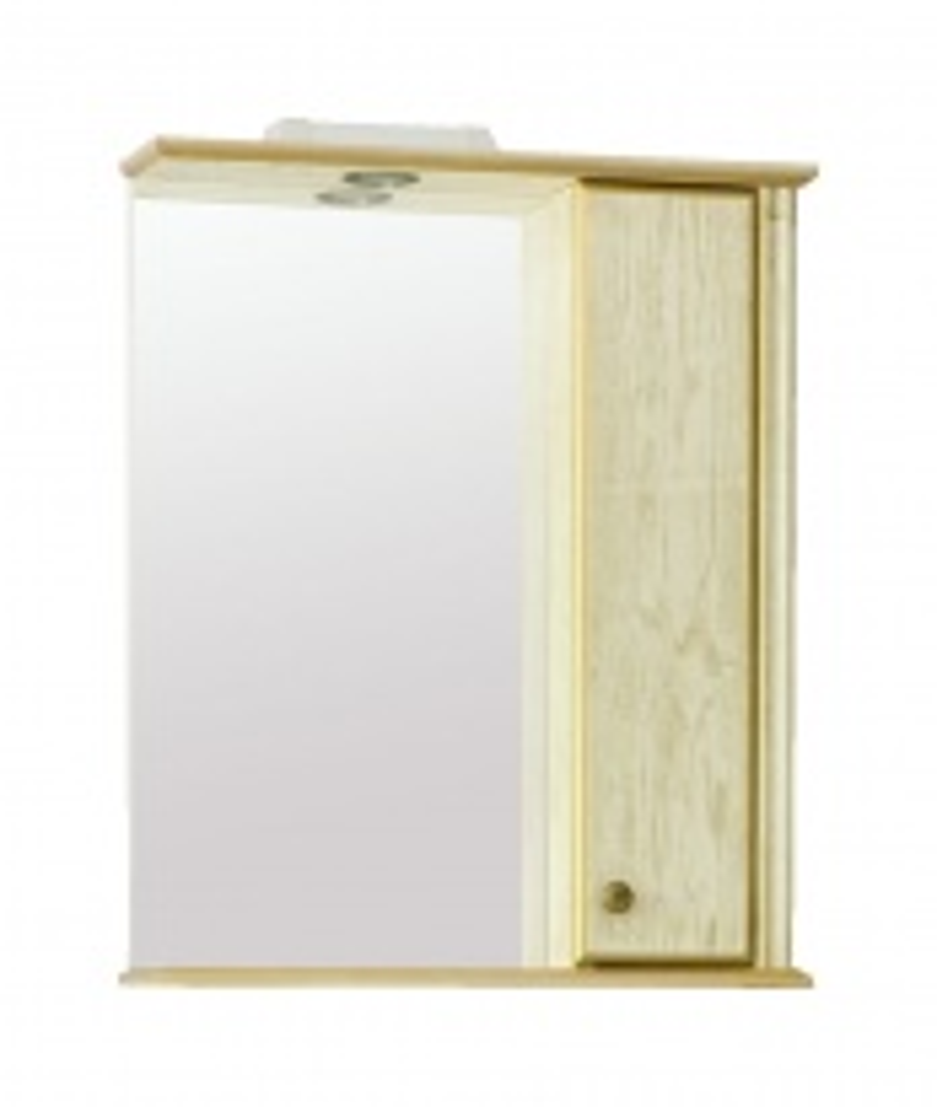 Зеркало Аллигатор ГРАНТ 1-60 R/L, с подсветкой и шкафчиком, 60*17*73,2 см