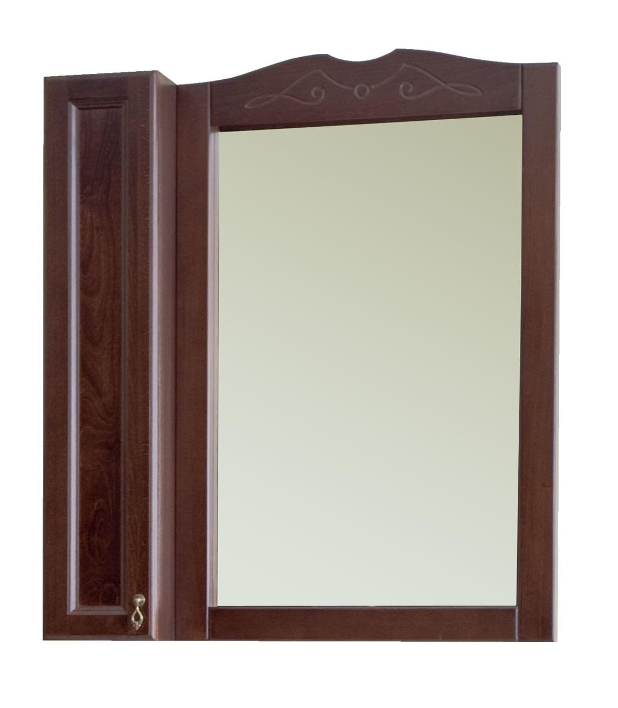 Зеркало Аллигатор МИЛАНА 4-75 R/L, с одним шкафчиком, 75*18*99,5 см