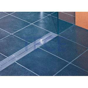 Решетка TECE «Quadratum» из нержавеющей стали, прямая, длина 800 мм