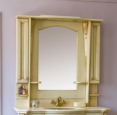 Зеркало с подсветкой Аллигатор VITO 120B(D), с двумя шкафчиками, 112*25*115 см
