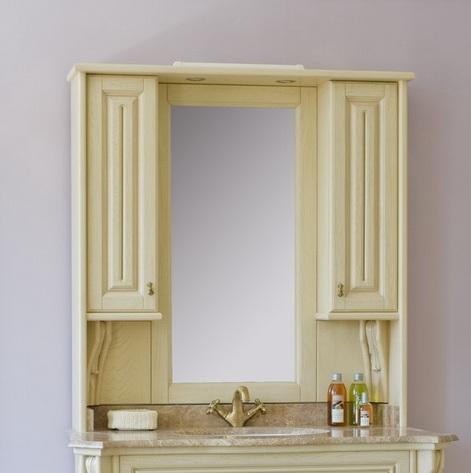 Зеркало с подсветкой Аллигатор VITO 120E(D), с двумя шкафчиками, 109*18*115 см