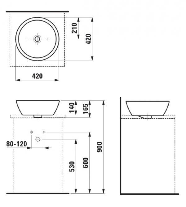 Раковина-чаша Laufen Pro 8.1296.2.000.109.1