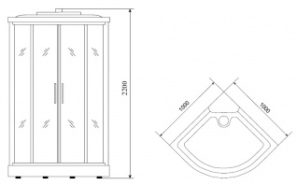 Душевая кабина Timo T-1101 100*100*220 см (Standart)