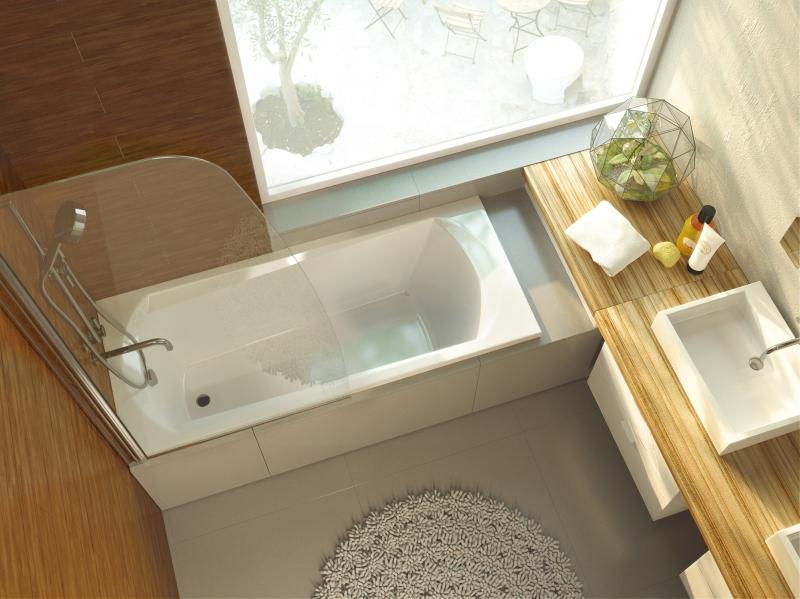 Акриловая ванна ALPEN Diana арт. AVP0039, 120*70 см
