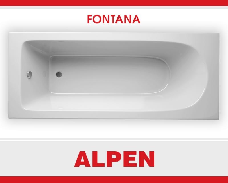 Акриловая ванна ALPEN Fontana арт. AVB0007, 170*70 см