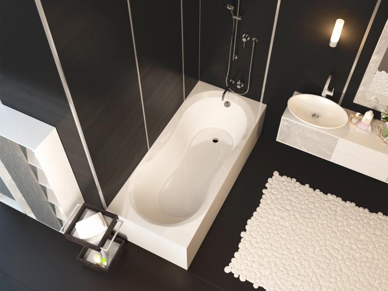 Акриловая ванна ALPEN Mars арт. AVP0017, 110*70 см