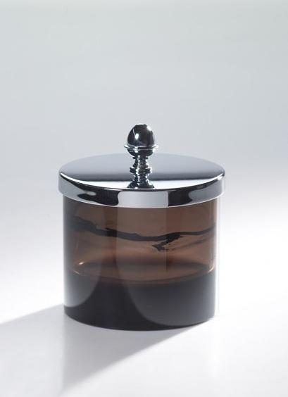 Большая прозрачная баночка Cristal-et-Bronze Obsidienne 36519