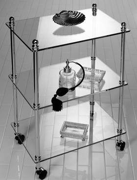 Прямоугольная этажерка на колесах Cristal-et-Bronze Boutique 31104
