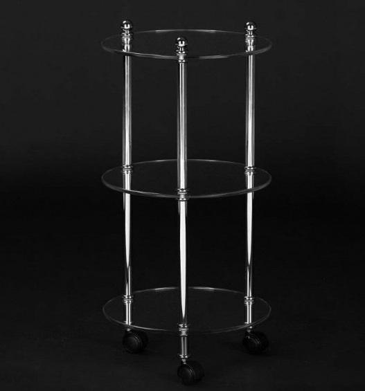 Круглая этажерка Cristal-et-Bronze Boutique 30704 на колесах