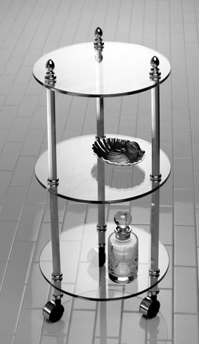Круглая этажерка Cristal-et-Bronze Boutique 30702 на колесах
