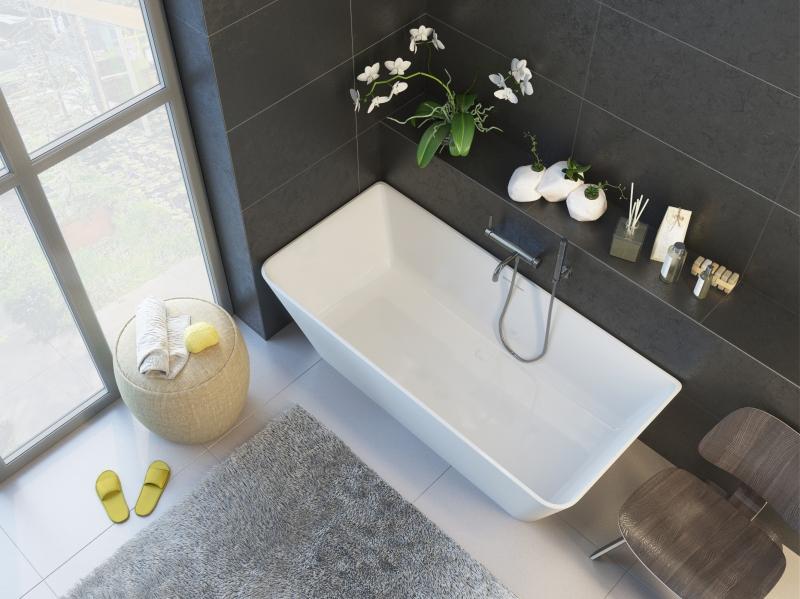 Ванна мраморная ALPEN Novara арт. NOV-170M, 169*80 см