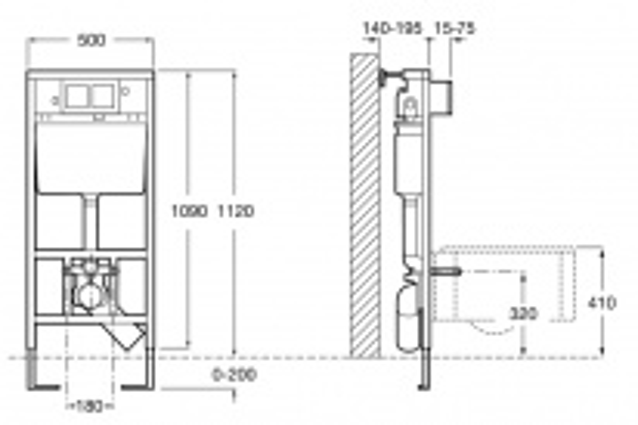 Инсталляция Roca PRO WC 89009000K+Унитаз Gustavsberg Saval 7G658780 подвесной