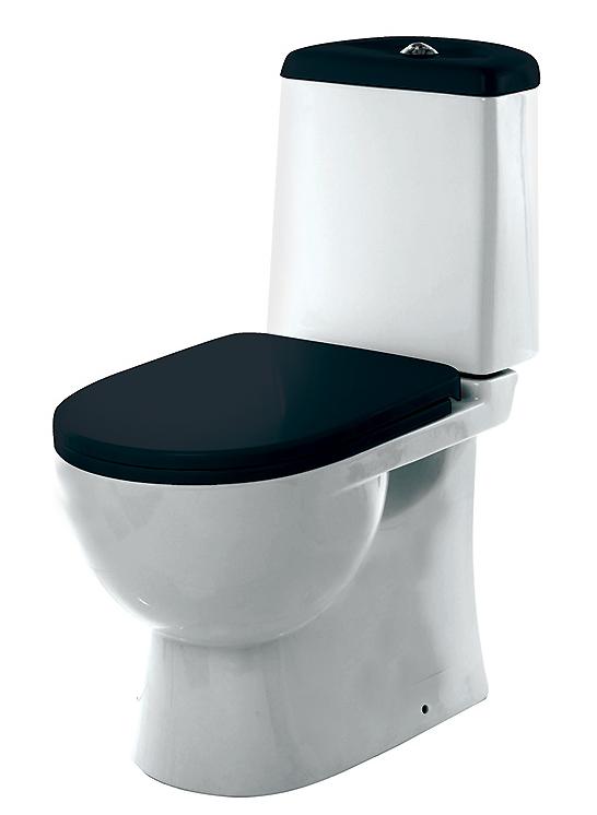 Унитаз-компакт Sanita Luxe Best Color Black с сиденьем Soft Close